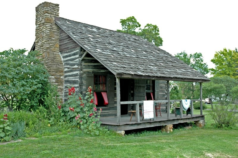 Dietrich Cabin as it appears today. The cabin is located in City Park in Ottawa, Kansas.