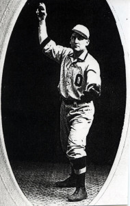 Richmond pitcher Cleve Rouch poses in an Ottawa University uniform.