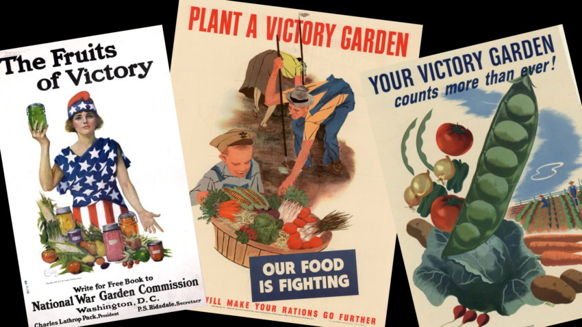 WWI and WWI posters promoting Victory Gardens